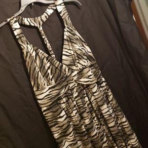 Torrid black, white, and grey dress